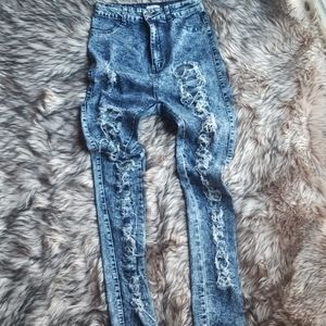 Distressed Skinny Jean's